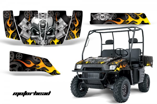 Grafik Kit Dekor Motorhead Polaris Ranger 500/700 XP 05-08 UTV Graphic Kit