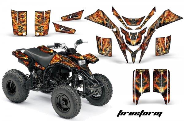 Grafik Kit Dekor Firestorm Yamaha YFS 200 Blaster Quad ATV Graphic Kit