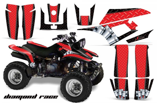 Grafik Kit Dekor Diamond Race Yamaha YFM 350 Warrior Quad ATV Graphic Kit