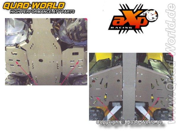 AXP ATV Fußrastenschutz Bombardier Can Am RENEGADE 800 07- Alu (6mm)