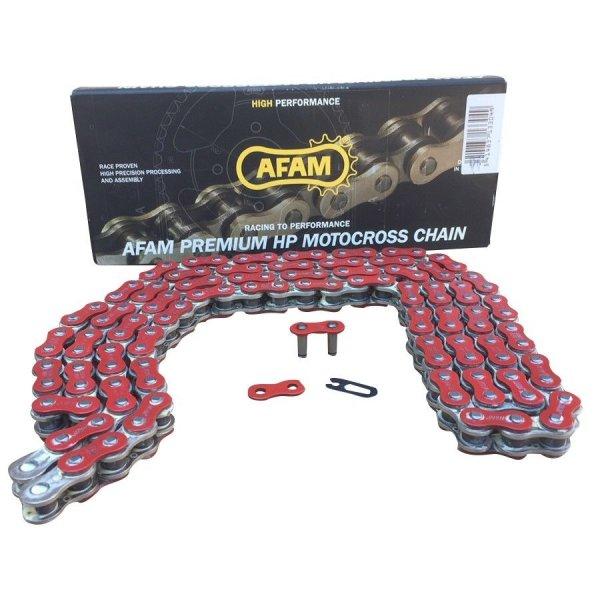 FAM Quad Kette verstärkt Typ A520MX4-R 520 / 120 Glieder Farbe Rot von 250cc bis 500cc