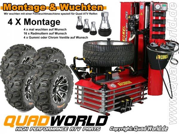 4x Montage von Reifen und Felgen ggf. wuchten incl. Ventile