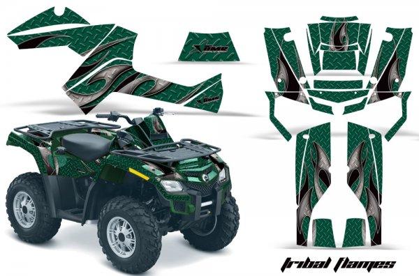 Grafik Kit Dekor Tribal Flame Can Am Outlander 800 Quad ATV Graphic Kit