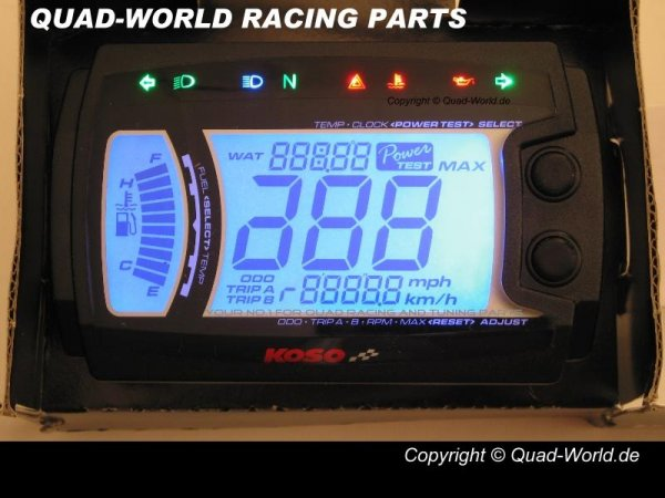 KOSO Tacho Quad ATV XR-SRN