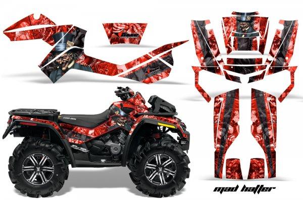Grafik Kit Dekor MadHatter Can Am Outlander 800 XMR Quad ATV Graphic Kit