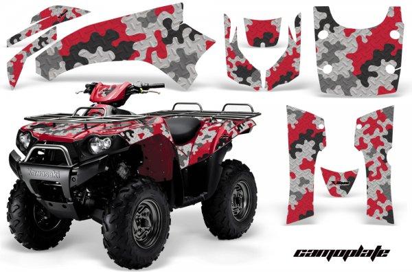 Grafik Kit Dekor Camoplate Kawasaki Brute Force 650i Quad ATV Graphic Kit