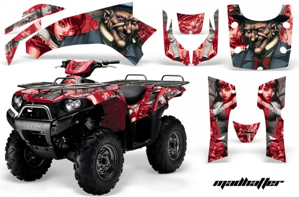 Grafik Kit Dekor MadHatter Kawasaki Brute Force 750 Quad ATV Graphic Kit