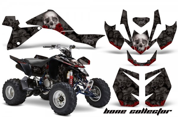 Grafik Kit Dekor Bone Collector Suzuki LTZ 400 09-11 Quad ATV Graphic Kit