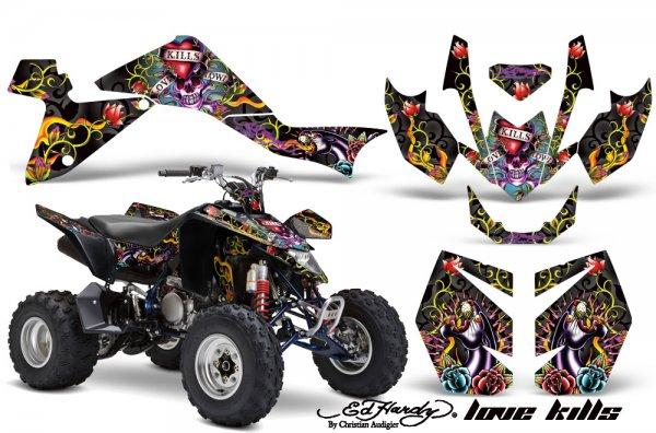 Grafik Kit Dekor Ed Hardy Love Kills Suzuki LTZ 400 09-11 Quad ATV Graphic Kit