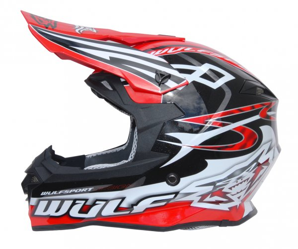Cross Helm Sceptre schwarz/rot Motorrad Quad ATV Bike Enduro MX BMX Helm
