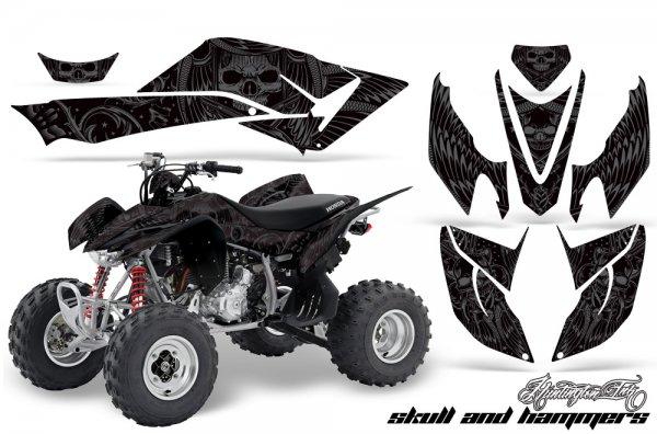 Grafik Kit Dekor Skulls & Hammers Honda TRX 400EX 08-11 Quad ATV Graphic Kit