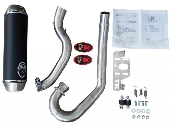 Turbo Kit Auspuff Komplettanlage für Yamaha YFM 700R E-Geprüft 15-
