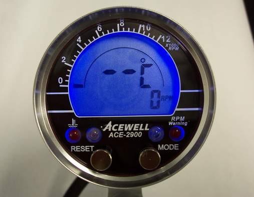 Acewell ACE-2900AS Drehzahlmesser Temp. AUFBAU Schwarz
