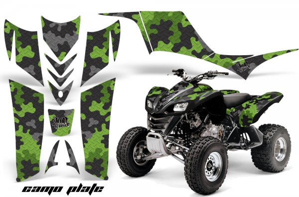 Grafik Kit Dekor Camo Plate Kawasaki KFX 700 Quad ATV Graphic Kit