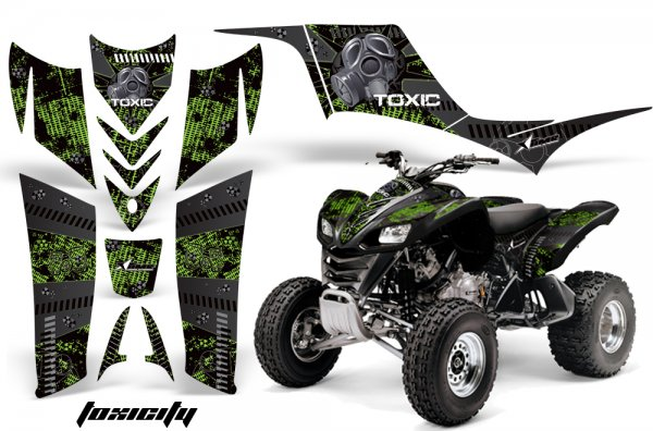 Grafik Kit Dekor Toxicity Kawasaki KFX 700 Quad ATV Graphic Kit