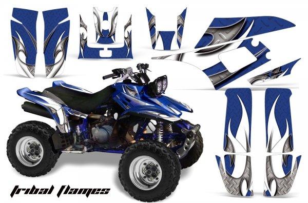 Grafik Kit Dekor Tribal Flames Yamaha YFM 350 Warrior Quad ATV Graphic Kit