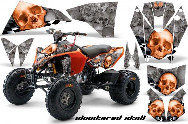 Grafik Kit Dekor Checkered Skull KTM 450/505/525 Quad ATV Graphic Kit