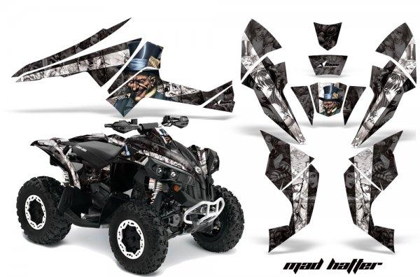 Grafik Kit Dekor MadHatter Can Am Renegade 800x 800r Quad ATV Graphic Kit