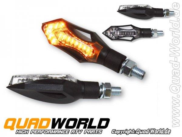 LED-Blinker HATCH schwarzes Gehäuse Paar E-geprüft