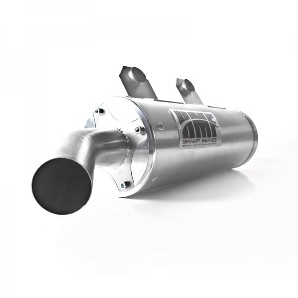 HMF Endtopd Abgassystem der QS Titan Serie mit Billet Endkappe Chrom für Polaris RZR 570 13-15