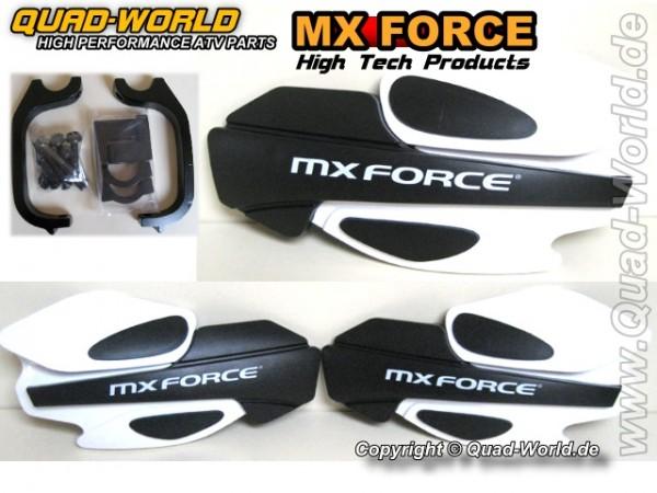 MX Force Race Handschalen Handprotektoren Weiss incl. Haltekit