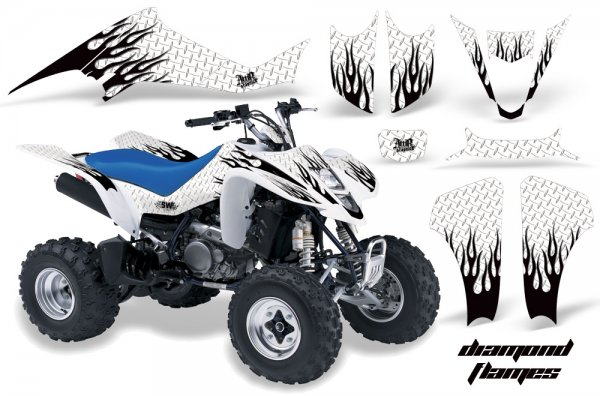 Grafik Kit Dekor Diamond Flame Suzuki LTZ 400 04-08 Quad ATV Graphic Kit
