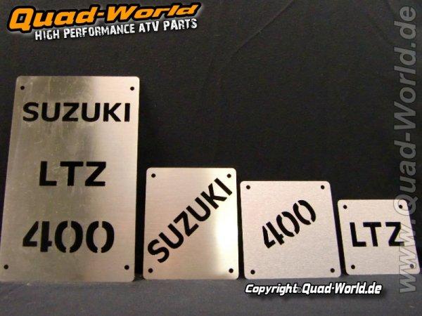 Edelstahl Warnschilder Schrift Suzuki LTZ 400 -08