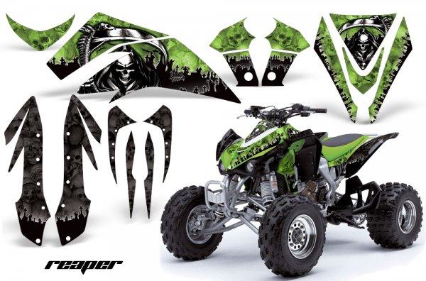 Grafik Kit Dekor Reaper Kawasaki KFX 450 Quad ATV Graphic Kit
