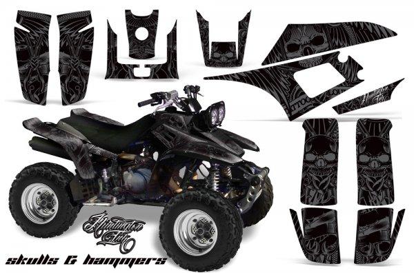Grafik Kit Dekor Skulls & Hammers Yamaha YFM 350 Warrior Quad ATV Graphic Kit