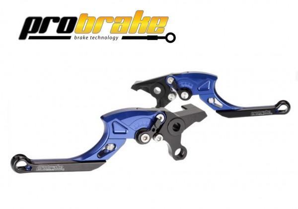 ProBrake TECTOR Einstellbare Kupplungs + Bremshebel Farbe blau für Quad Yamaha YFM 700R