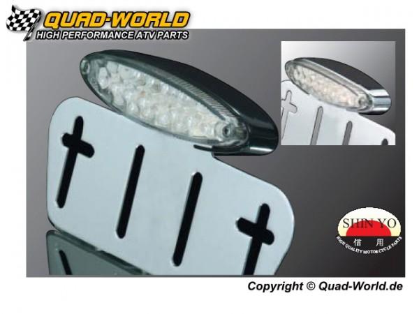 LED Rücklicht Stinger Gehäuse schwarz Glas Klar