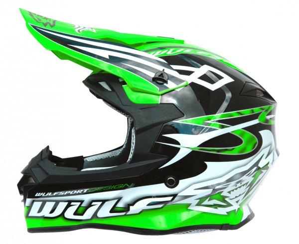 Cross Helm Sceptre schwarz/grün Motorrad Quad ATV Bike Enduro MX BMX Helm