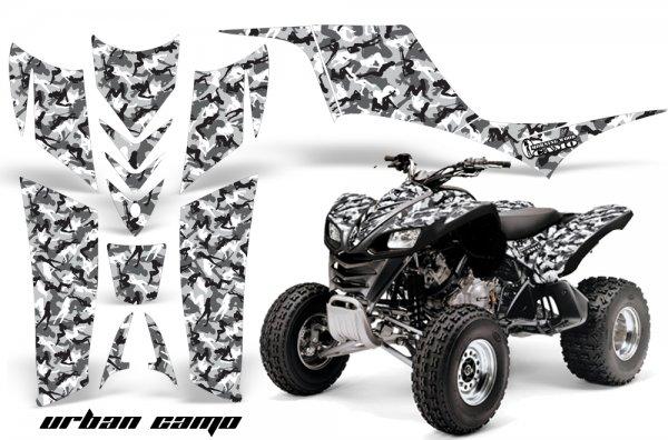 Grafik Kit Dekor Urban Camo Kawasaki KFX 700 Quad ATV Graphic Kit