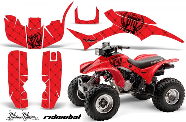 Grafik Kit Dekor Silver Star Reloaded Honda TRX300EX 93-06 Quad ATV Graphic Kit