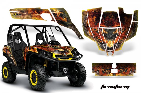 Grafik Kit Dekor Firestorm CanAm BRP Commander 1000, 800 UTV Graphic Kit