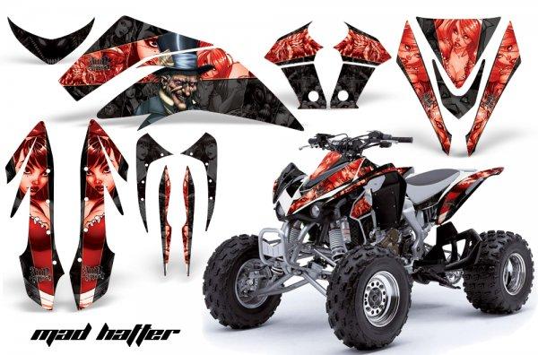 Grafik Kit Dekor MadHatter Kawasaki KFX 450 Quad ATV Graphic Kit