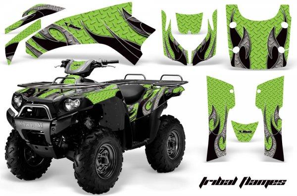 Grafik Kit Dekor Tribal Flames Kawasaki Brute Force 750 Quad ATV Graphic Kit