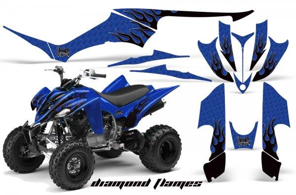Grafik Kit Dekor Diamond Flames Yamaha YFM 350 R Quad ATV Graphic Kit