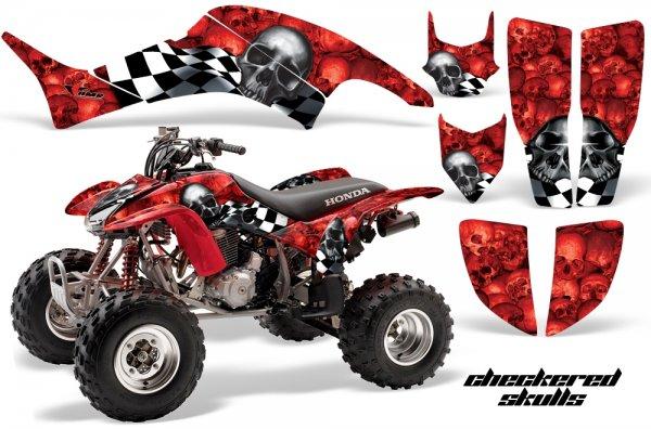 Grafik Kit Dekor Checkered Skull Honda TRX 400EX 99-07 Quad ATV Graphic Kit