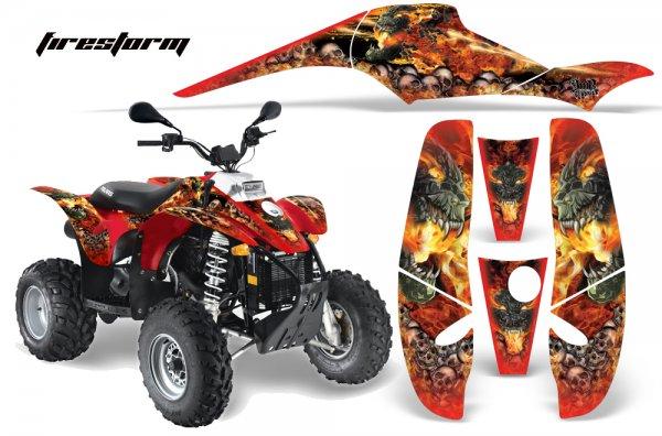 Grafik Kit Dekor Firestorm Polaris Scrambler,Trailblazer 200/400/500 Quad ATV Graphic Kit