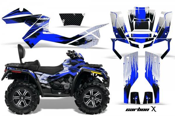 Grafik Kit Dekor Carbon X Can Am Outlander MAX 400/500/650/800 Quad ATV Graphic Kit