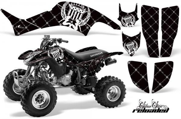 Grafik Kit Dekor Silver Star Reloaded Honda TRX 400EX 99-07 Quad ATV Graphic Kit