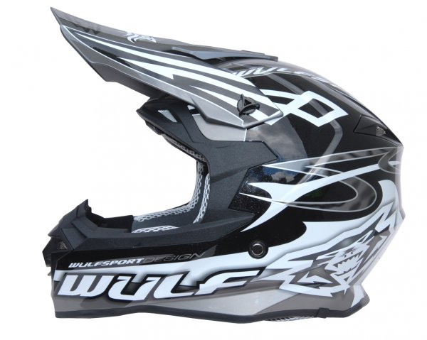 Cross Helm Sceptre schwarz/grau Motorrad Quad ATV Bike Enduro MX BMX Helm