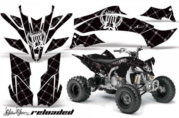 Grafik Kit Dekor Silver Star Reloaded Yamaha YFZ 450 09-10 Quad ATV Graphic Kit