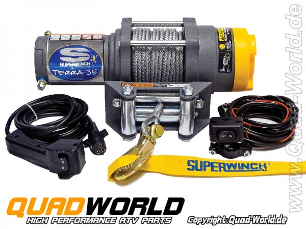 SUPERWINCH ATV Seilwinde TERRA 35 Stahlseil 1588kg