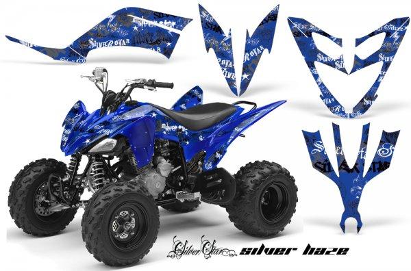 Grafik Kit Dekor Silver Star Silver Haze Yamaha YFM 250 R Quad ATV Graphic Kit