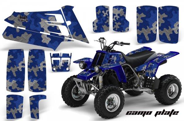 Grafik Kit Dekor Camo Plate Yamaha 350 Banshee Quad ATV Graphic Kit