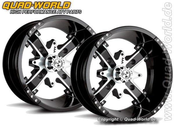MA Motosport Alloys M6 NUKE 12x7 4/115 ET+10 Black