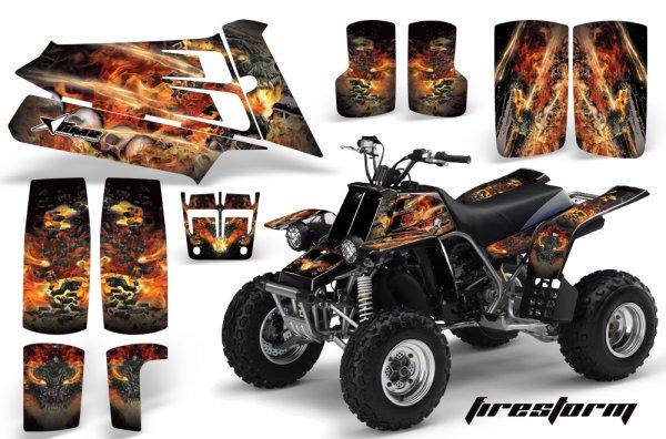Grafik Kit Dekor Firestorm Yamaha 350 Banshee Quad ATV Graphic Kit